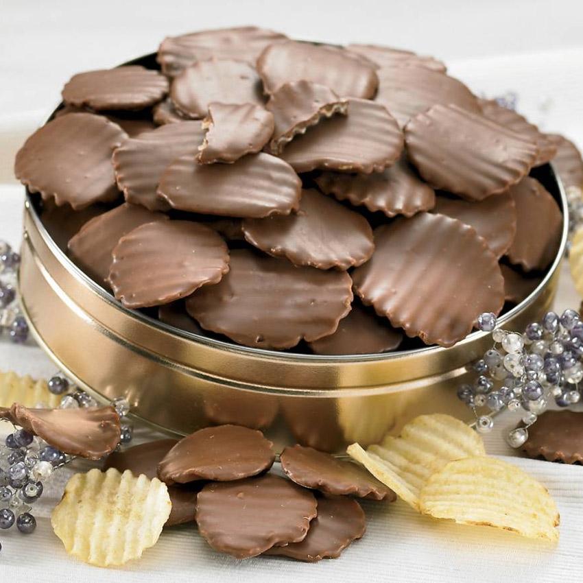 Шоколадное печенье из чипсов