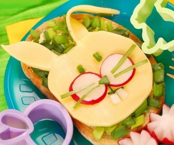 Бутерброд зайчик на скорую руку
